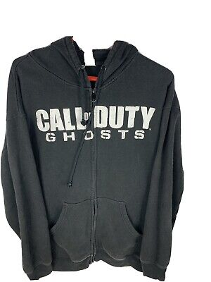 £21.24 • Buy Call Of Duty Ghosts Video Game Promo Full Zip Vintage Hoodie Sweatshirt Black XL