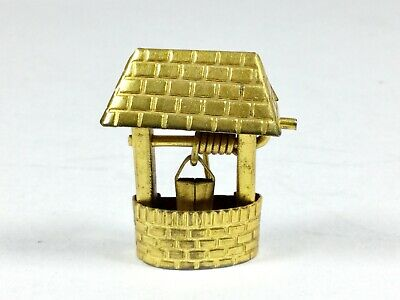 Antique / Vintage Goldtone / Rolled Gold Novelty Wishing Well Brooch Lucky Charm • 2.99£