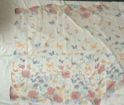 New Thin Sheer Material Floral Italian SILK Scarf • 1.50£