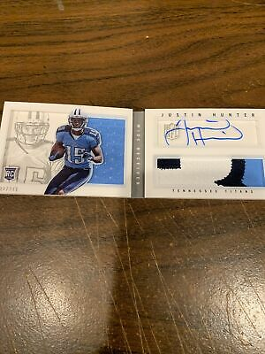 $12 • Buy 2013 Playbook Auto Justin Hunter Autograph Game Used Booklet 32/271 Titans