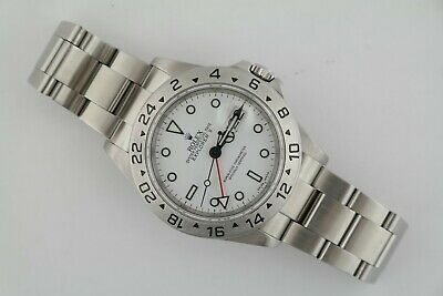 $ CDN11445.24 • Buy Rolex Explorer II 16570T Polar White Dial 40mm Oyster Band Box & Paper Year 2007