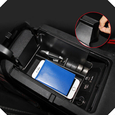 AU19.60 • Buy For Ford Mustang 2015-2019 Plastic Interior Black Armrest Storage Box Tray 1pcs