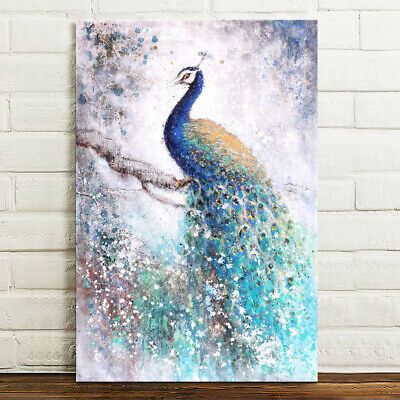 £6.75 • Buy Peacock Canvas Print Wall Art Painting Picture Poster Unframed 75x50cm Gift