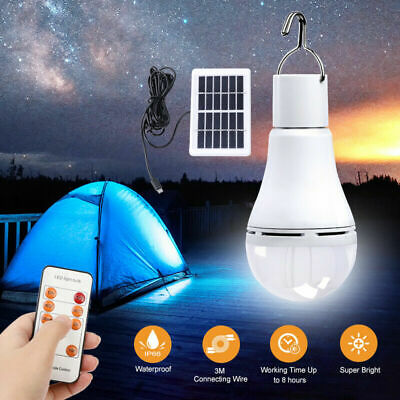 AU22.35 • Buy 9W LED Shed Solar Camping Light Outdoor Lamp Tent Lantern Bulb Remote Control #T