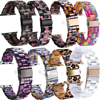 $ CDN26.80 • Buy Tortoise Resin Band Strap For Apple Watch IWatch Series SE 6 5 4 3 2 1 38MM 42MM