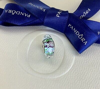 AU65 • Buy Authentic Pandora Blue Green Teal Tropical Sea Faceted Murano Glass Charm 791610