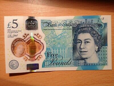 £5 Pound Bank Note Aa40 276782 Low Consecutive Serial Numbers Polymer*mint* • 21.90£