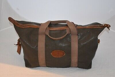 £625 • Buy Mulberry Vintage Khaki Scotchgrain Leather Zip Large Holdall Weekend Carry Bag