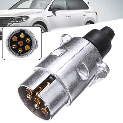 UK  7 Pin Towing Electrics Metal Trailer Car Plug Socket Towbar Aluminium Alloys • 5.79£