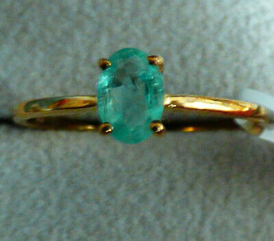 Colombian Emerald Solitaire Ring  • 162£