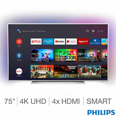 Philips 75PUS7354/12 75 Inch 4K Ultra HD Smart Android Ambilight TV • 841£