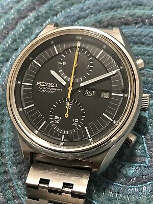 $ CDN661.28 • Buy Seiko Vintage Chronograph Jumbo Seiko 6138-3002 Automatic Day Date Men's Watch