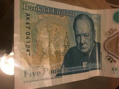 "AK47 Five-Pound Note Rare ""oh For One Twenty Four Seven""  • 100£"