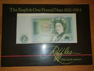 RAFFLES 1821-1984 The English One Pound Note ONE STEP AHEAD • 2£