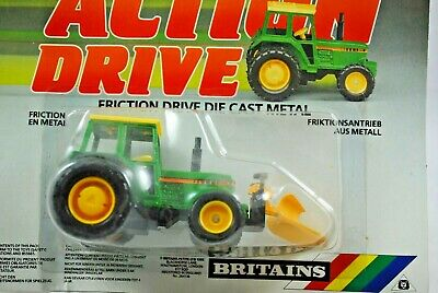 £29.99 • Buy BRITAINS Action Drive JOHN DEERE Type Tractor W/ Front Mounted SNOW-PLOUGH MOC