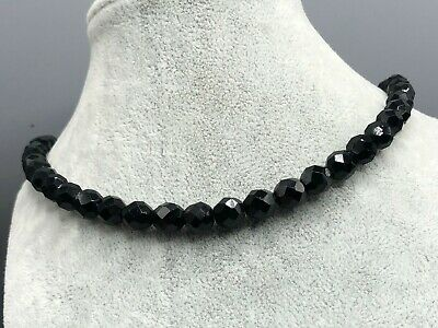 £20 • Buy French Jet Necklace Black Glass Bead Beaded Faceted Vintage Costume Jewellery