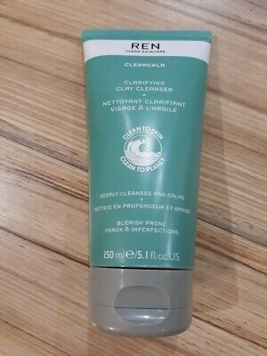 Ren Clean Skincare Clearcalm Clarifying Clay Cleanser 150ml • 15£