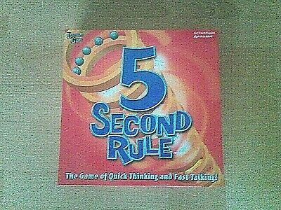 AU20 • Buy 5 Second Rule Board Game -  The Game Of Quick Thinking & Fast Talking - Complete