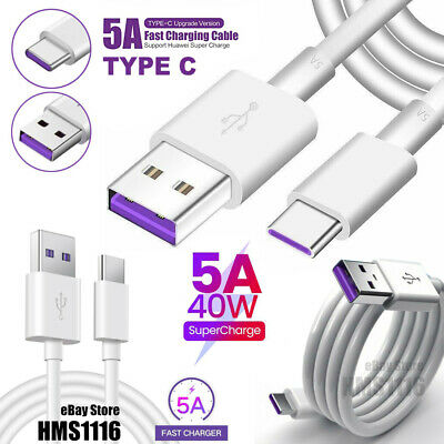 AU7.99 • Buy 5A Super Fast Charge Type C Cable With DATA For Huawei Sumsung Google Xiaomi