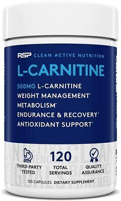 AU33.50 • Buy Rsp L-carnitine (120 Serve) 120 Capsules - Healthy Weight Loss