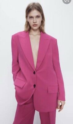 AU49 • Buy ***zara Nwot Xs S 6 8 10 Pink Oversized Blazer Suit Jacket Coat***
