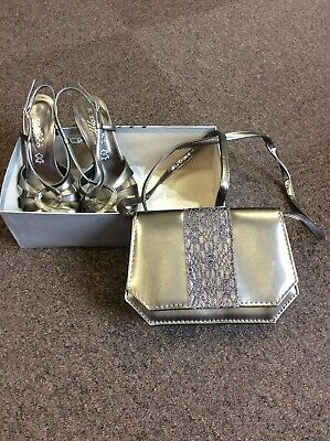 ZODIACO Italian Leather Strappy Sandals ,Pewter, Size 36/3 & Bag (jr33) • 3.99£