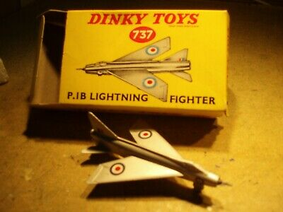 Lightning P.1B Fighter  Vintage Dinky Die-cast Aircraft With Box (Batch 6) • 30£