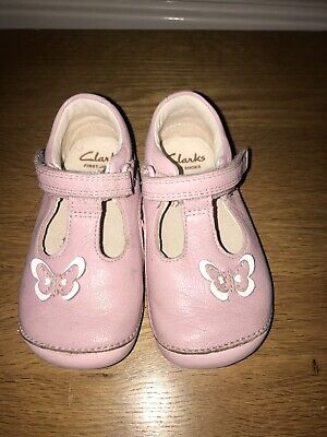 Clarks Girls Pink Cruiser Shoes Size 5G • 0.99£