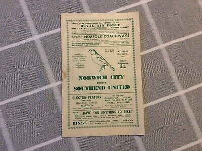 Norwich City V Southend United Div3 Played On 18th November 1950. • 5£