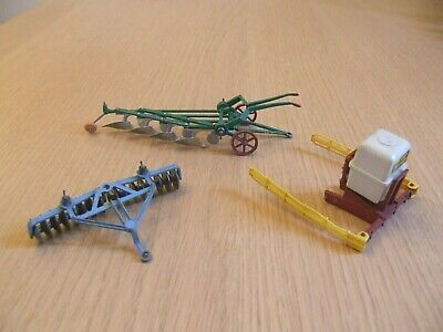 Vintage Britains Farm Machinery Plough, Discs & Sprayer Lot • 5.99£