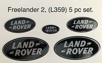 5pc Set Of Replacement Gel Overlay Badges. Fits Freelander 2 (L359)  Non-JLR • 23.50£