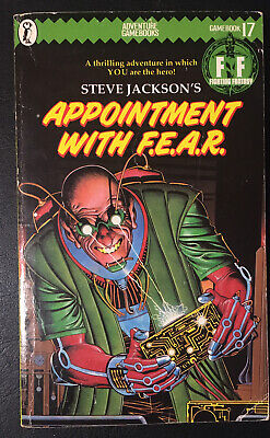 AU27.80 • Buy APPOINTMENT WITH F.E.A.R. Fighting Fantasy #17 1985 1st/2nd Green Banner VG+