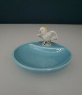 Vintage Wade Whimsy Whimtrays  Cockatoo Parrot Bird Pin Trinket Dish/Tray • 6£