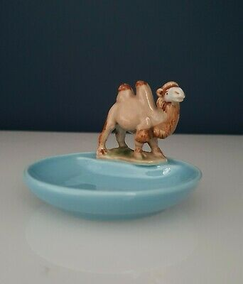 Collectable Vintage Wade Blue Porcelain Whimtrays Pin Tray & The Camel Whimsy • 6£
