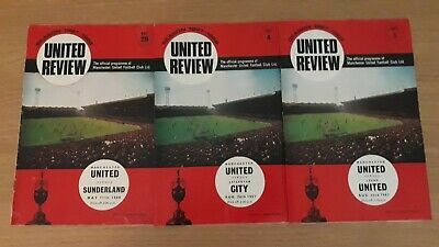 Manchester United Programmes X 3. 1967/68. • 2.99£