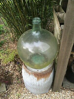 Vintage Carbuoy, Large Glass Bottle, Garden Bottle • 35£