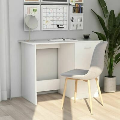 AU87.95 • Buy Desk White With Storage Drawer Cabinet Workstation Home Office Computer Table