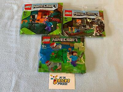 AU31.99 • Buy Lego Minecraft Lot Of 3 Polybags 30331/30393/30394 New/Sealed/Hard To Find