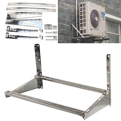 Bracket Holder For Air Conditioner Wall Mount Heavy Duty Solid Steel Silver • 53.66£