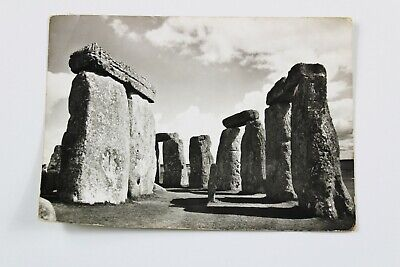 STONEHENGE Real Photographic Postcard Vintage Wiltshire Interior Stone Circle • 3.99£