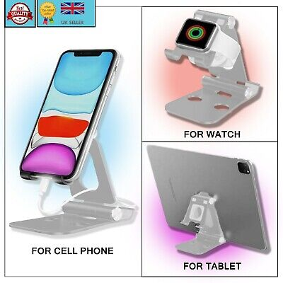 Universal Adjustable Folding Mobile Phone Tablet Stand Holder Portable Compact • 3.95£