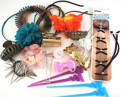 $ CDN17.62 • Buy Large Bundle JOB LOT Of HAIR Accessories CLIPS Decorations Collection