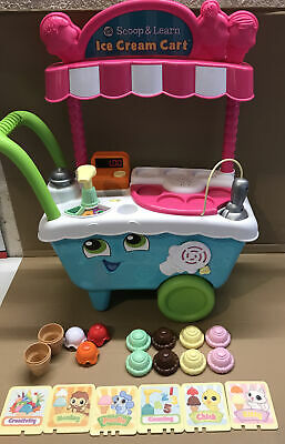 LEAP FROG SCOOP & LEARN ICE CREAM CART Used In Great Condition • 27.99£