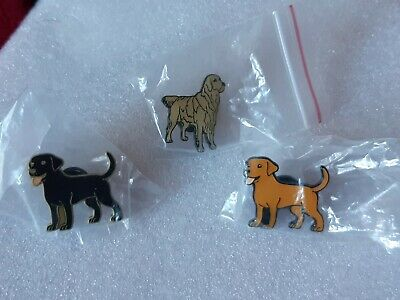 Joblot Of 3 Dog Enamel Pin Badges # • 4.50£