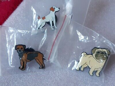 Joblot Of Three Dog Enamel Pin Badges  • 4.50£