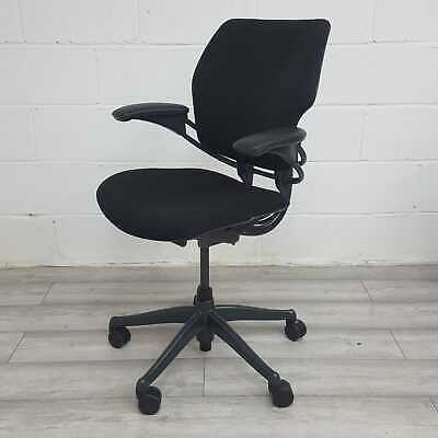 Used Humanscale Freedom Office Chair In Black, Adjustable Armrests • 166.80£