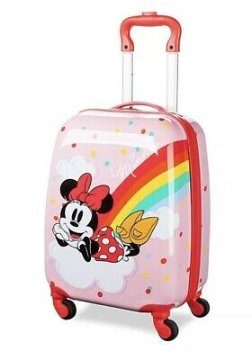 Disney Store MINNIE MOUSE ROLLING LUGGAGE 18  BNWT 💫 • 55£