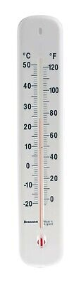 Brannan 14/435/3, Wall Mount Liquid In Glass Thermometer, Lab -20 To +50  • 5£