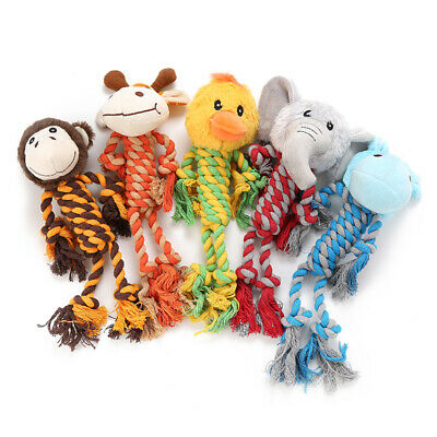 $8.95 • Buy Dog Squeaky Toys No Stuffing Rope Toy Dog Plush Toy For Small Medium Large Dogs