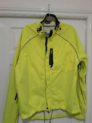 Mens Gill Cycling/ Sailing Jacket In Fluorescent Green Size XL 100% Polyester  • 11.70£